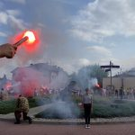 Zdjęcie przedstawiające obchody Powstania Warszawskiego w Zakroczymiu